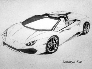 Huracan Spyder rendered.